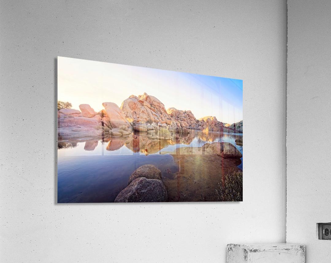 Barker Dam at Sunset  Acrylic Print