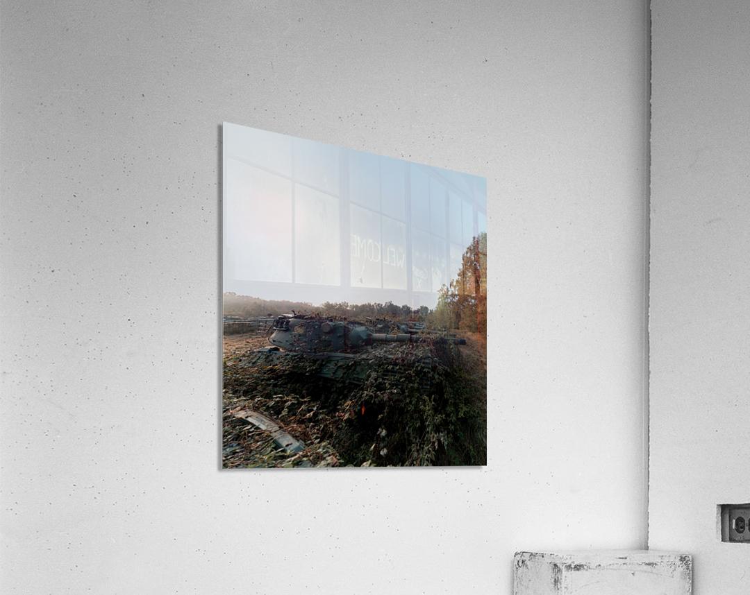 Abandoned Tank Graveyard w- Vines  Acrylic Print
