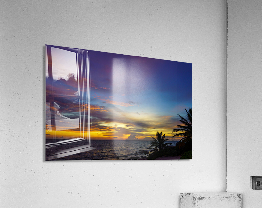 Colorful Caribbean Sky at Grand Cayman  Acrylic Print