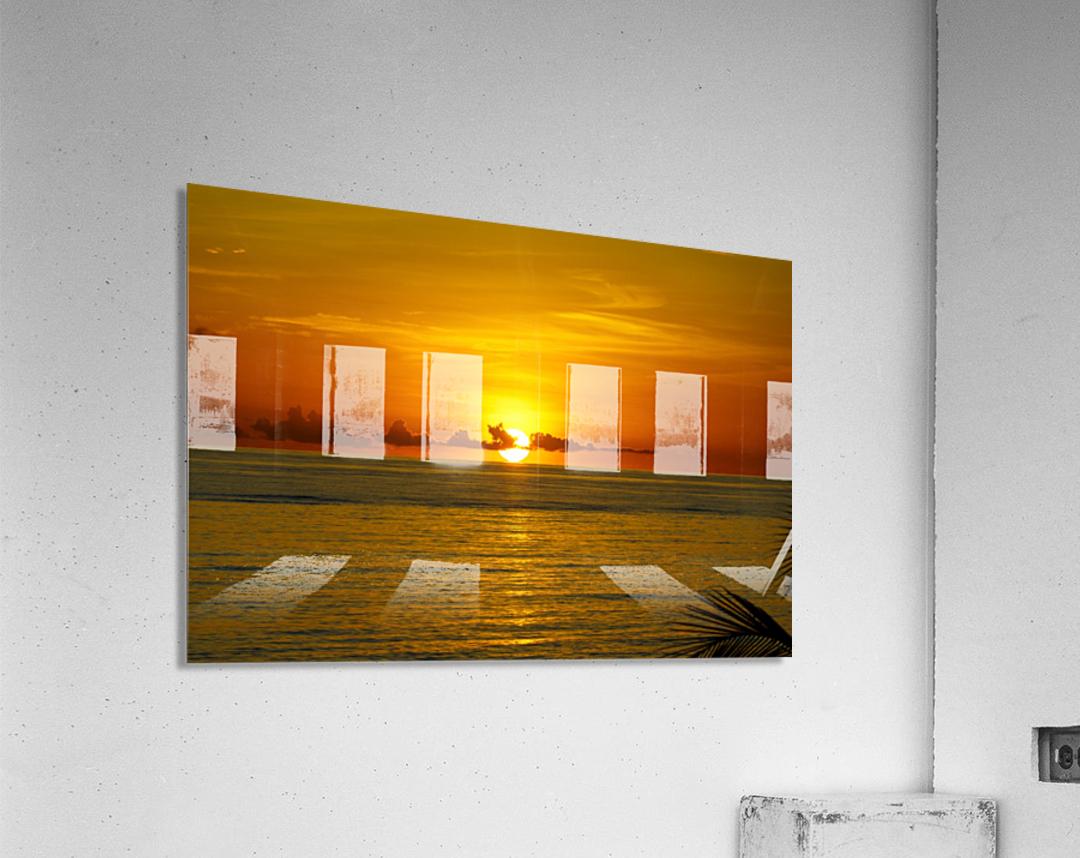 Sun rising on the ocean  Acrylic Print