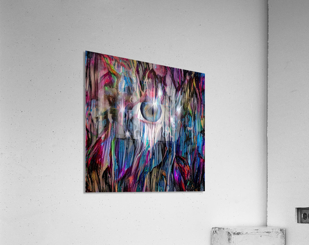Eye in Colorful Space  Acrylic Print