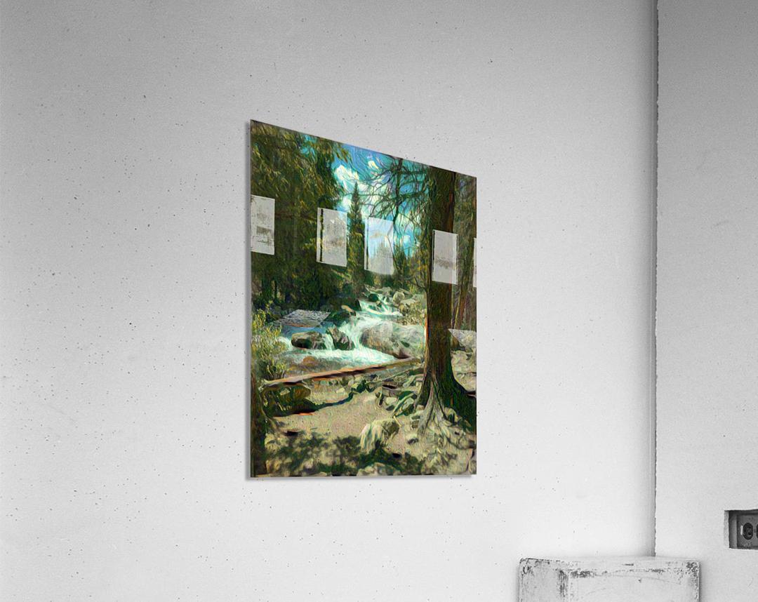 Rocky Mountain waterfall  Acrylic Print
