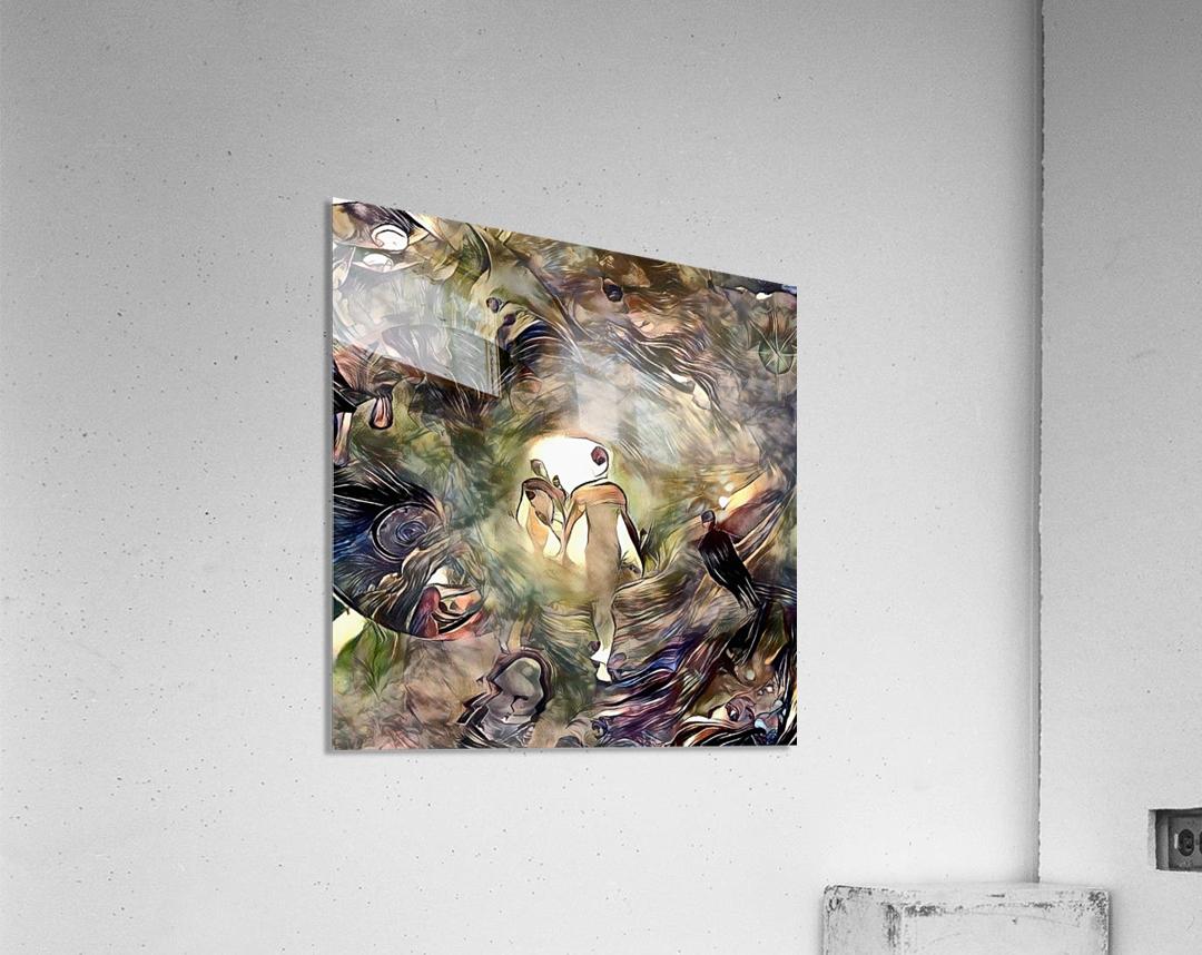 Human Souls in Tunnel of Light  Acrylic Print