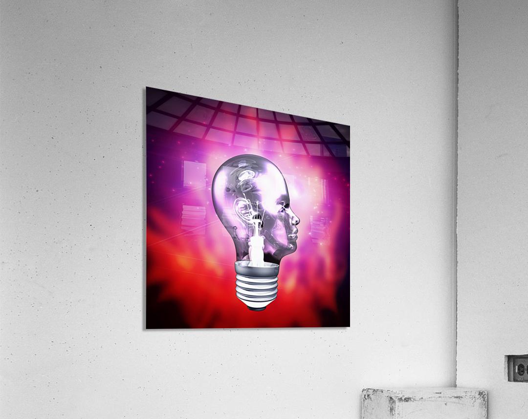Human Light Bulb Head  Acrylic Print