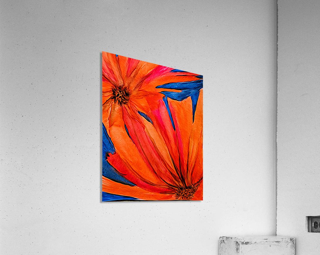 Orange Flowers   Acrylic Print
