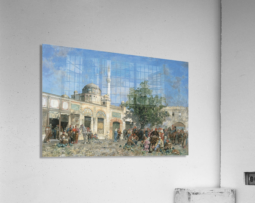 The market of Constantinople  Acrylic Print