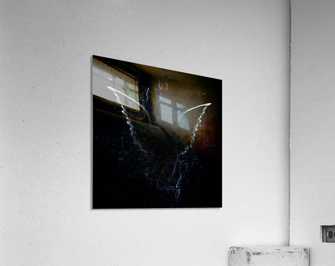 Outline of Winged Creature  Acrylic Print