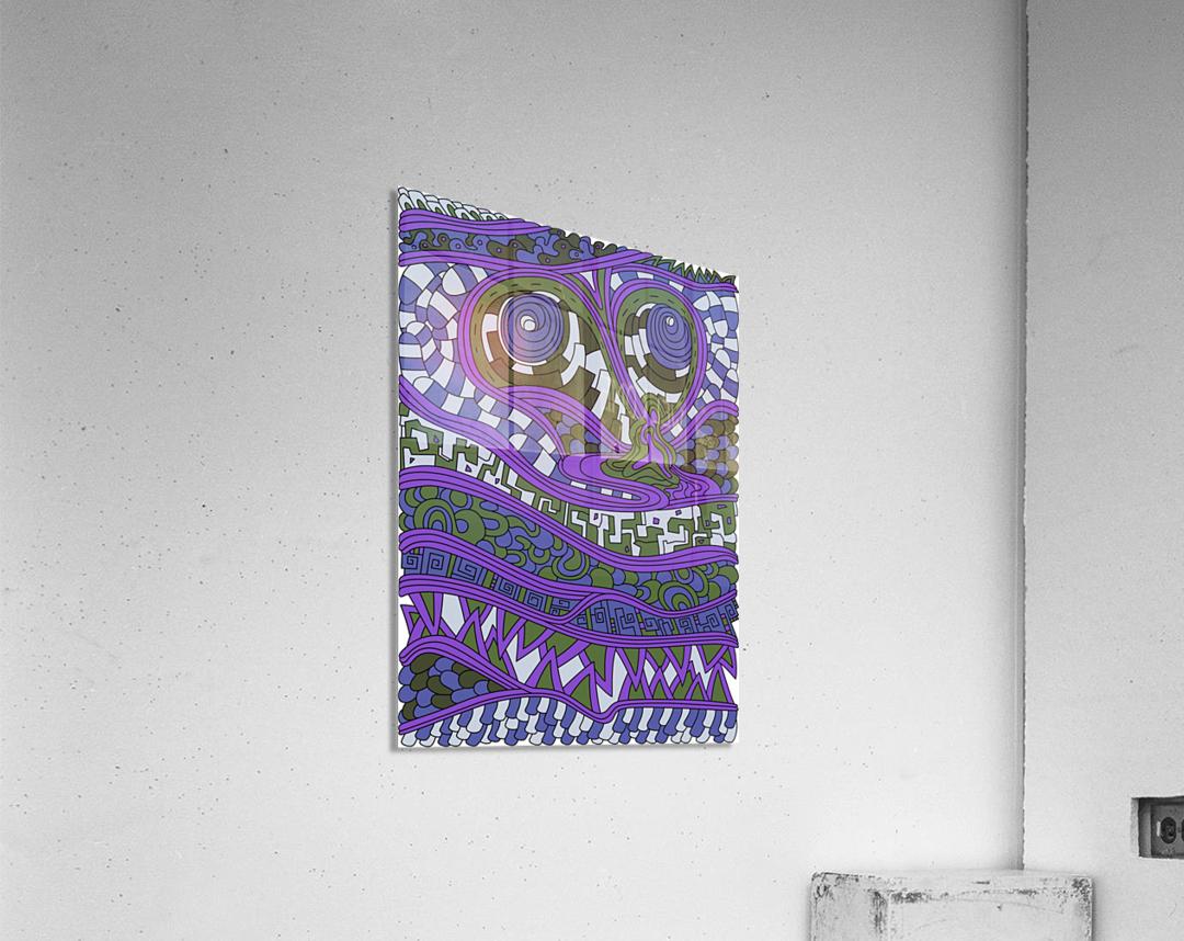 Wandering Abstract Line Art 03: Purple  Acrylic Print
