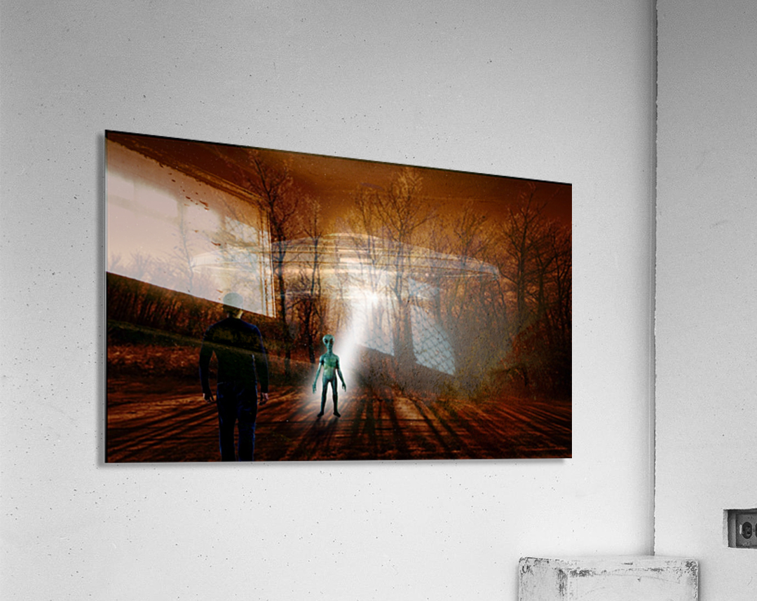 Dark Encounter  Acrylic Print
