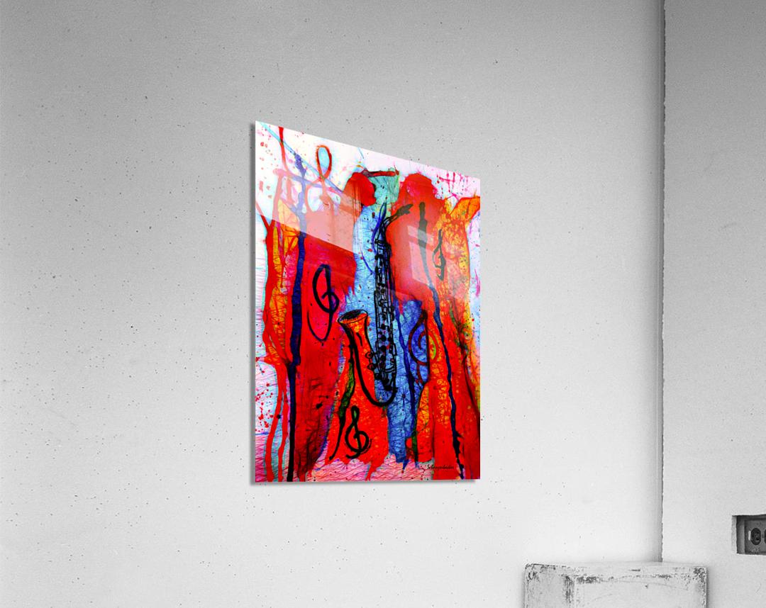 Saxophone Electrified  Acrylic Print