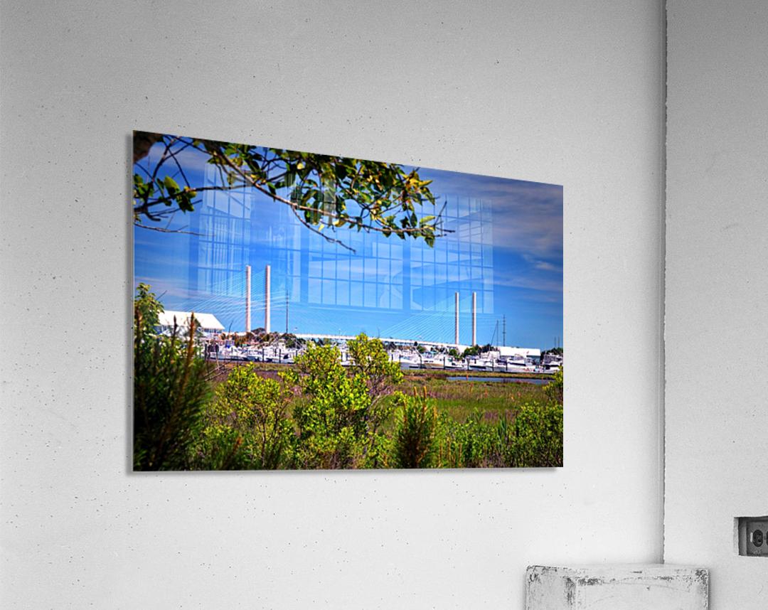 Burtons Boats and A Bridge  Acrylic Print