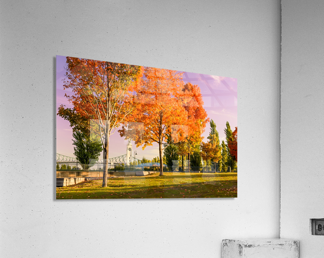 Autumn In The Old Port Of Montreal  Acrylic Print