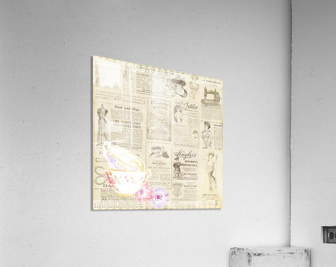 newsprint background  Acrylic Print
