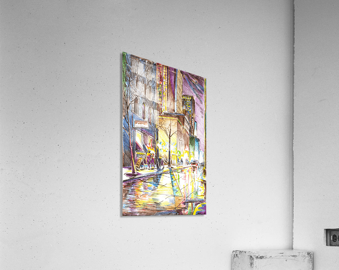 NYC_At_night_City_Scope  Acrylic Print