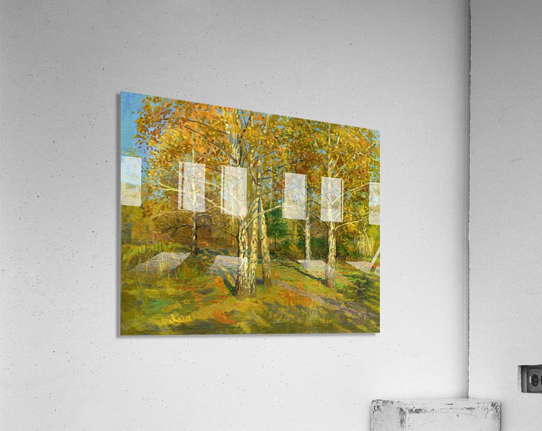 Birch_Trees_In_Tsaritsyno  Acrylic Print