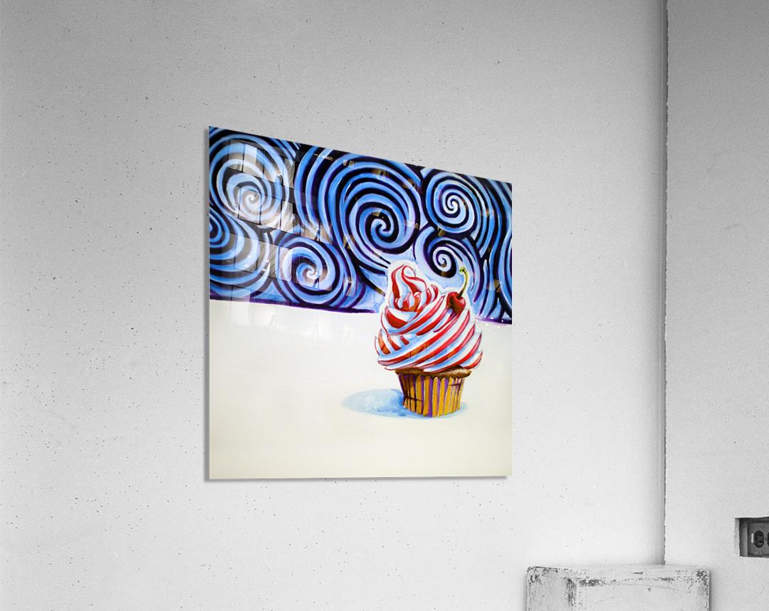 Cupcake  Impression acrylique
