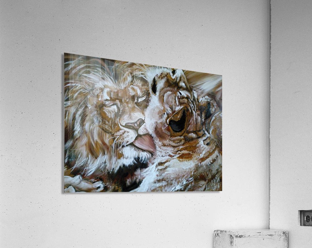 Leos.Devotion.  Acrylic Print