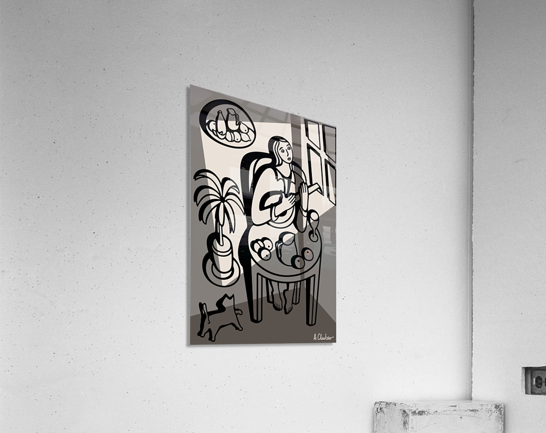 Girl Playing a Lute  Acrylic Print