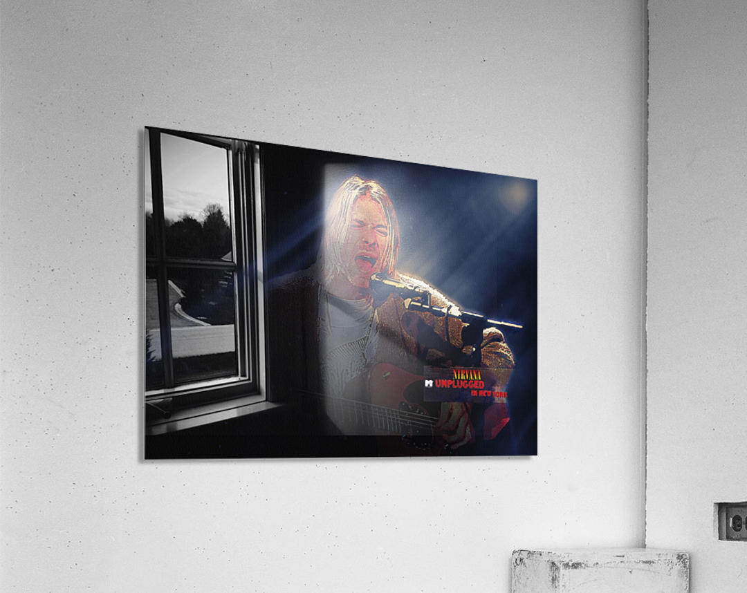 Kurt Cobain Live MTV Unplugged  Acrylic Print