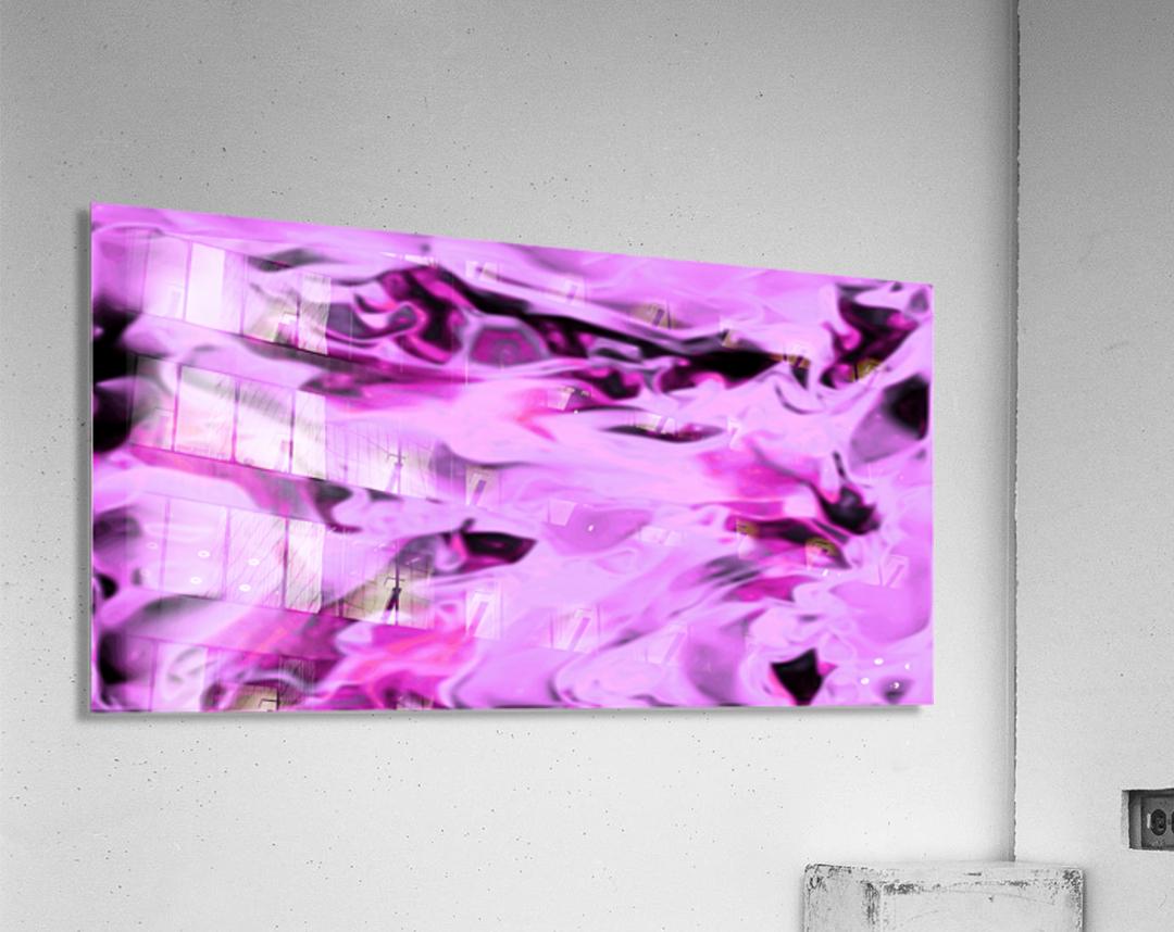 Pink Flamingo - pink grey black abstract swirl abstract wall art  Acrylic Print