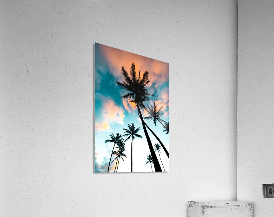 Palm Tree Sunrise  Acrylic Print