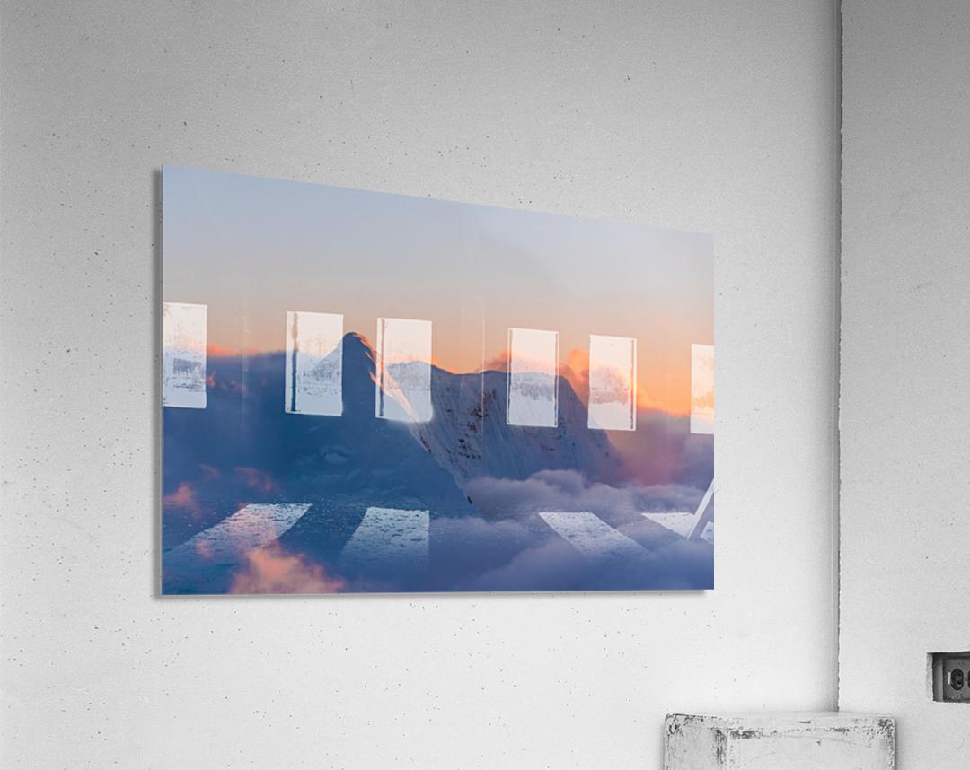 Pastel Peak  Acrylic Print