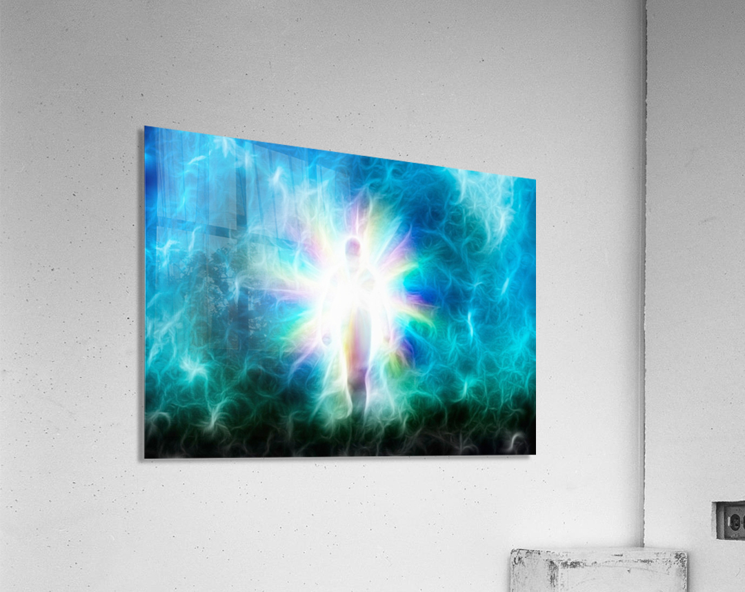 Figure Emerges from Light  Acrylic Print