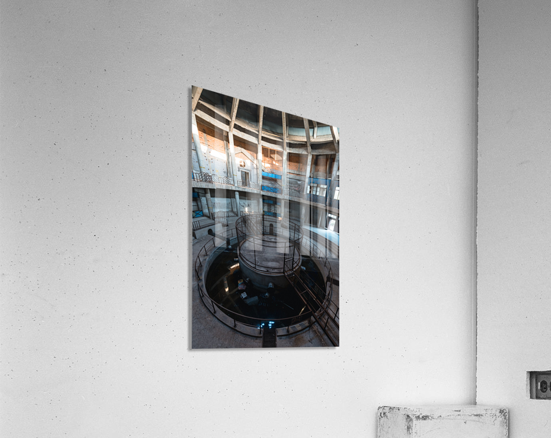 Abandoned Dog Fighting Arena  Acrylic Print