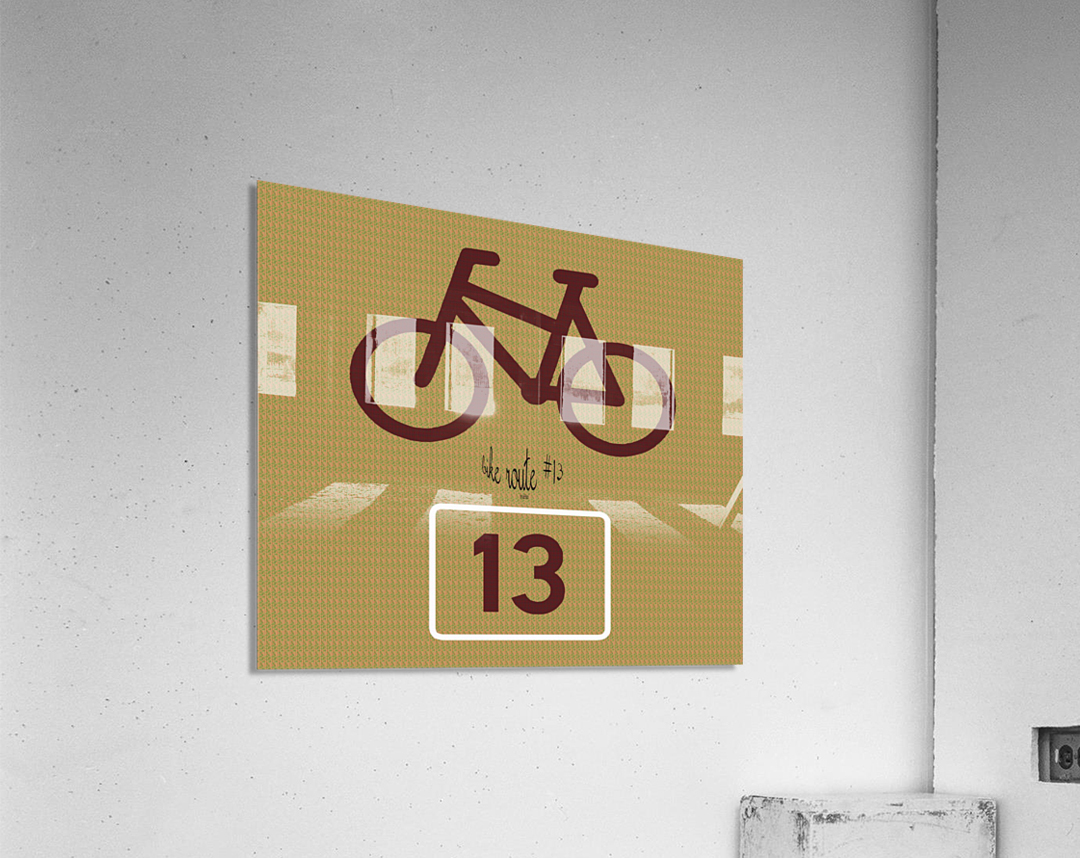 Bike Route number 13  Acrylic Print