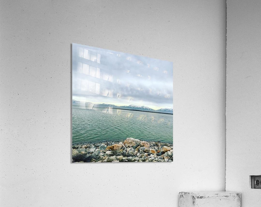 Great Salt Lake Shoreline  Acrylic Print