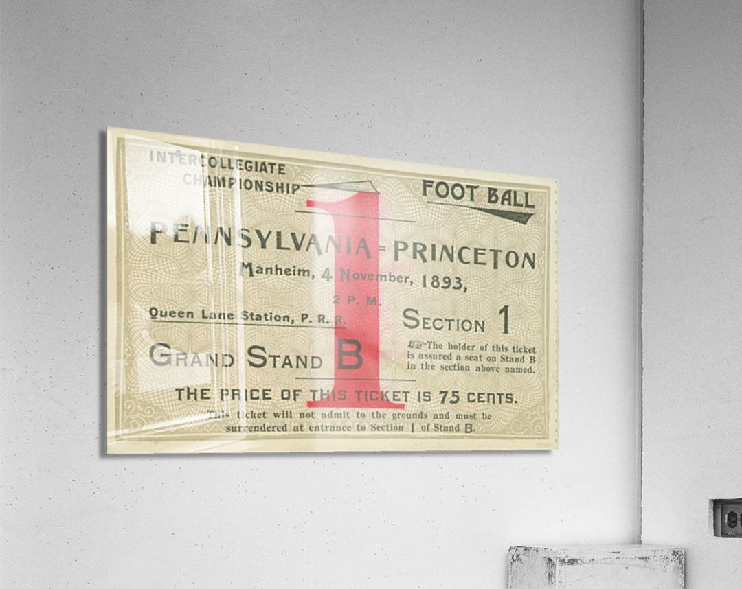 1893 Penn vs. Princeton  Acrylic Print