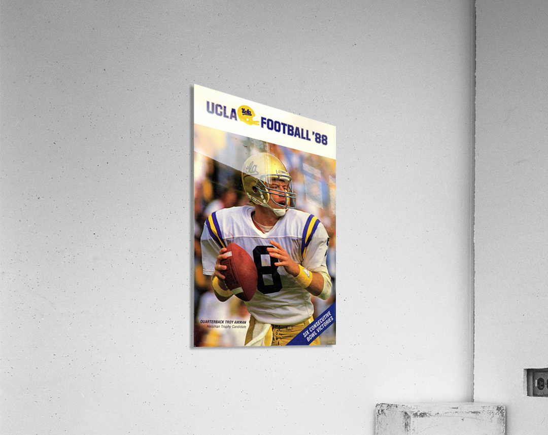 1988 Troy Aikman UCLA Football Poster  Acrylic Print