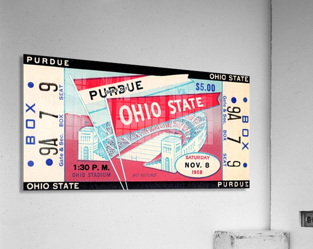 1958_College_Football_Purdue vs. Ohio State_Ohio Stadium_Row One Brand  Acrylic Print