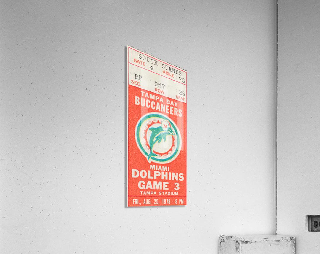 1978 Miami Dolphins Football Ticket Stub Art  Acrylic Print
