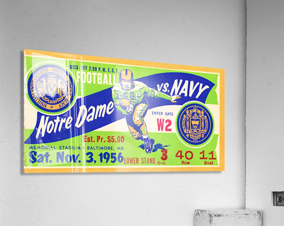 1956_College_Football_Notre Dame vs. Navy_Memorial Stadium_Baltimore_Row One Brand  Acrylic Print