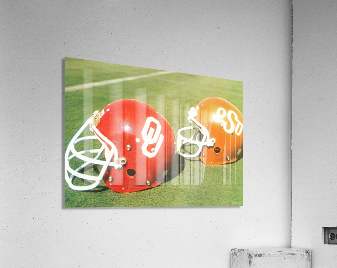 1978 Oklahoma Sooners OSU Cowboys Football Helmet Art   Acrylic Print