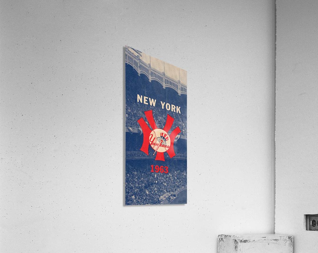 1963 New York Yankees Baseball Cover Art by Row One Brand   Acrylic Print