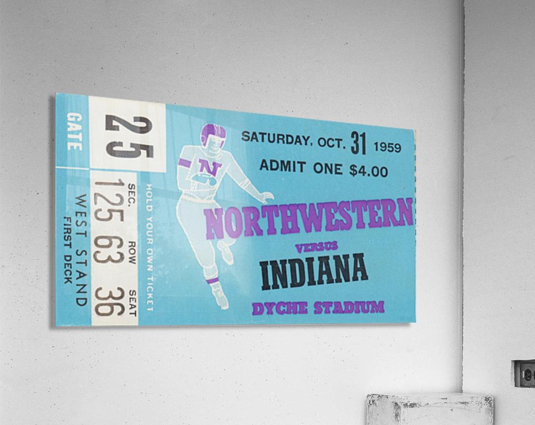 1959_College_Football_Northwestern vs. Indiana_Dyche Stadium_Row One Brand Tickets  Acrylic Print