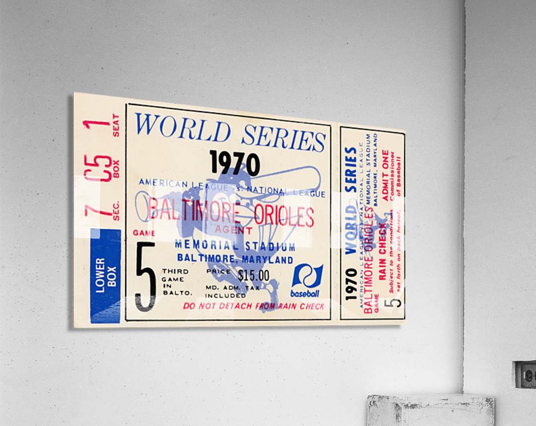 1970_Major League Baseball_World Series_Baltimore Orioles vs. Cincinnati Reds_Memorial Stadium_Row 1  Acrylic Print