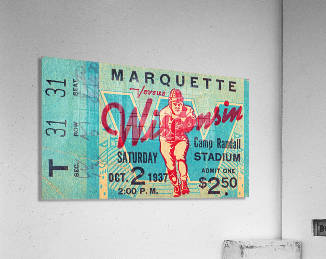 1937 Marquette vs. Wisconsin  Acrylic Print