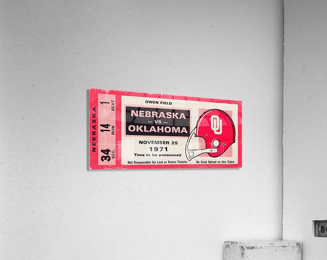 1971 Game of the Century Nebraska vs. Oklahoma  Acrylic Print