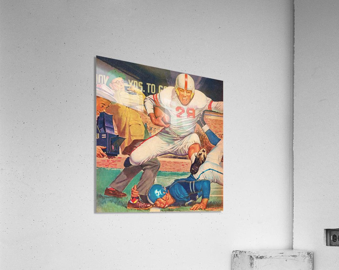 Vintage Football Art  Acrylic Print