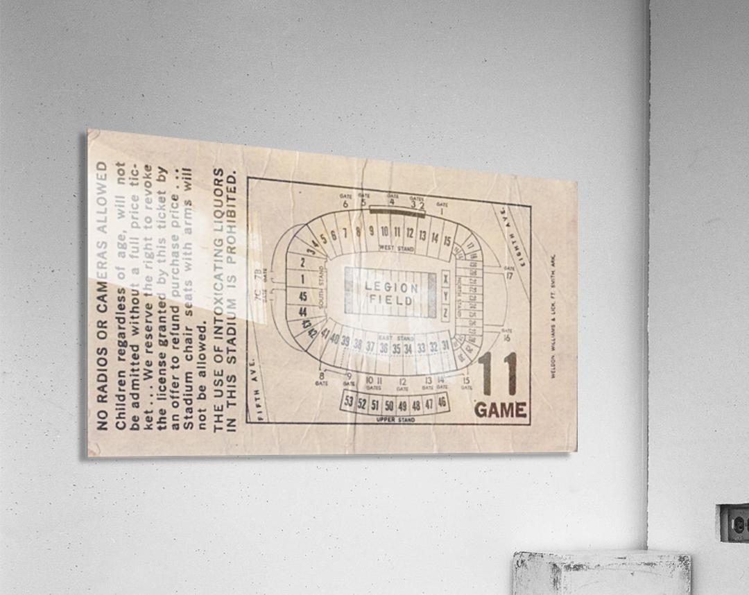 1981 Legion Field Map  Acrylic Print