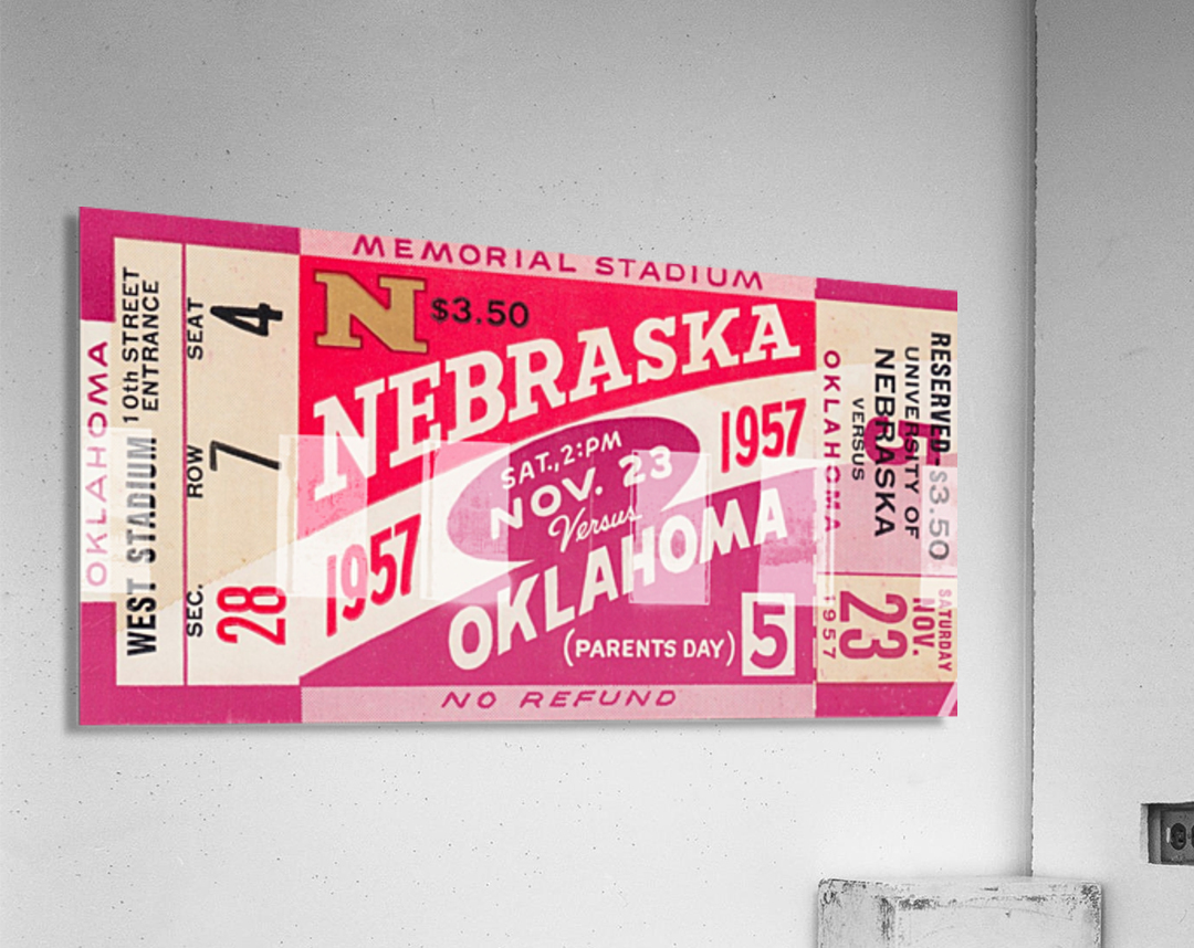 1957_College_Football_Nebraska vs. Oklahoma_Historic Memorial Stadium Lincoln_College Wall Art  Acrylic Print