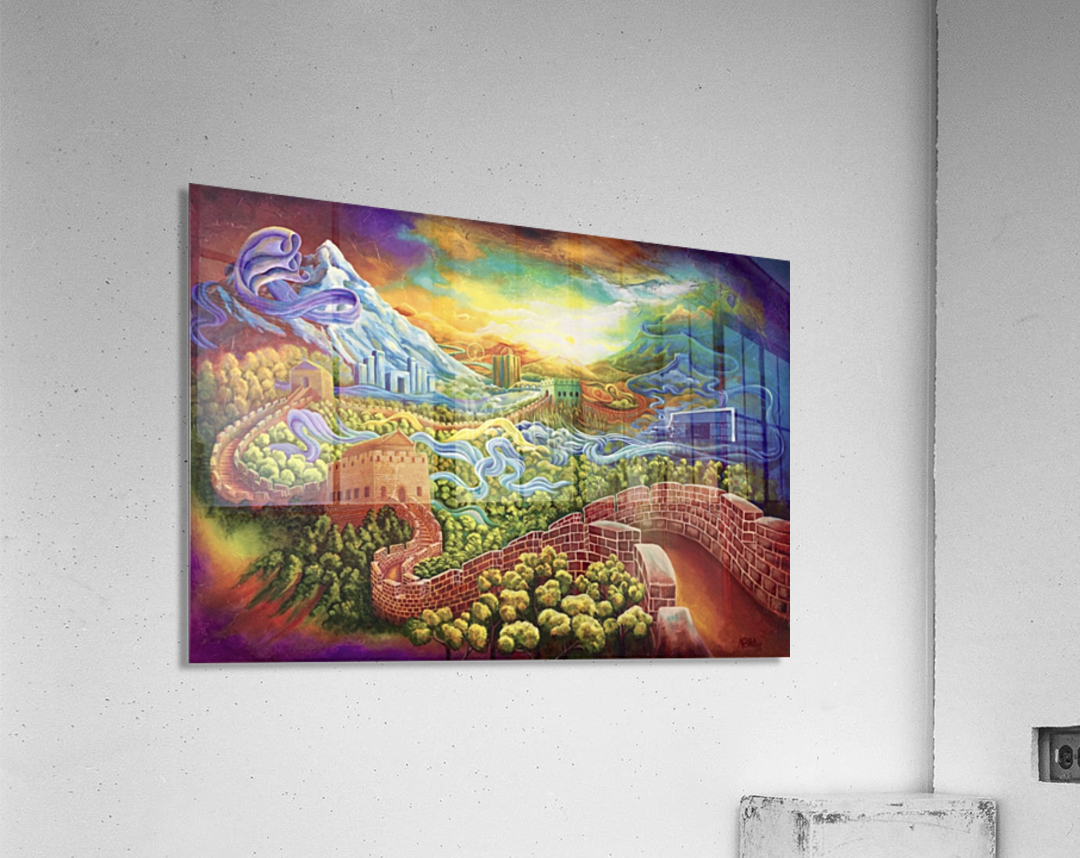 The Great Wall now and then  Acrylic Print