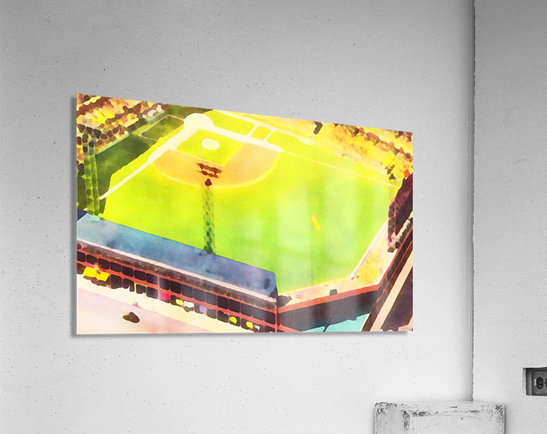 Baseball Ballpark Colorful Art Print  Acrylic Print