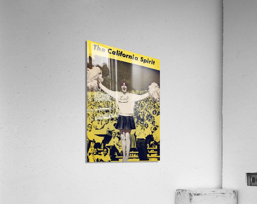 1965 California Cheerleader Photograph_Vintage College Cheerleading Uniform Photo  Acrylic Print
