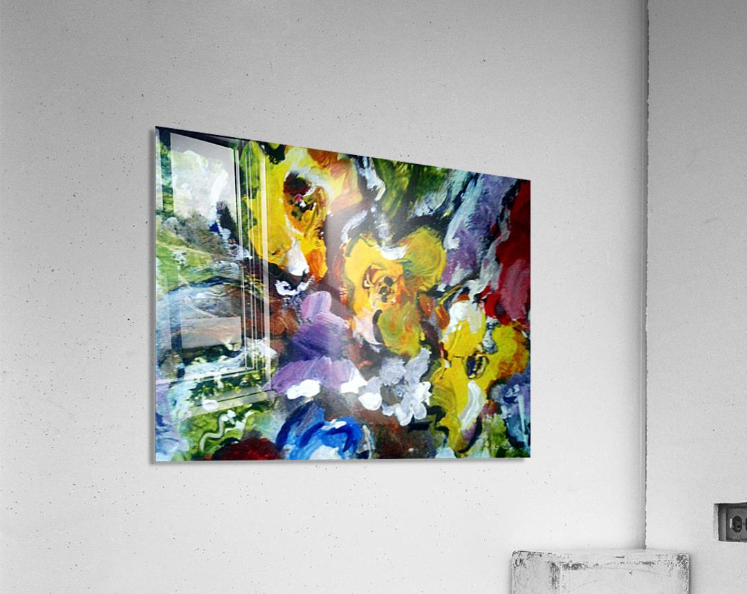 Primary Yellow  Acrylic Print
