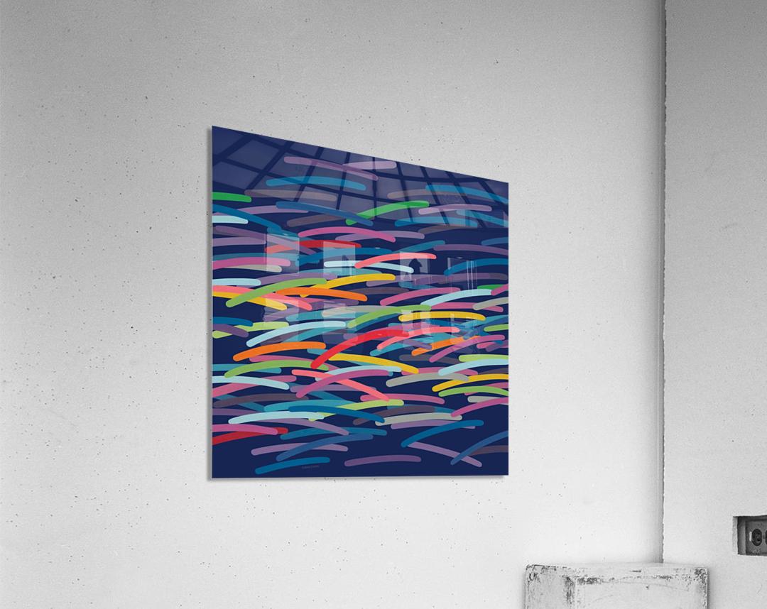 REAL4   Dark blue Background  Acrylic Print