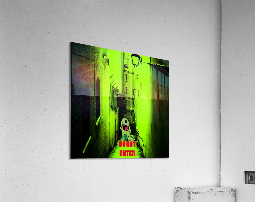 DO NOT ENTER  Acrylic Print